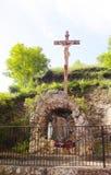 Altare di Jesus Christ - Conques - Francia Fotografia Stock