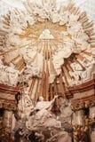 Altare di Karlskirche, Vienna Fotografie Stock Libere da Diritti