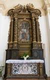 Altare di legno dedicato all'incoronazione del vergine, w scolpito Fotografie Stock
