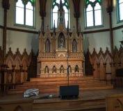 Altare di legno della chiesa Fotografie Stock