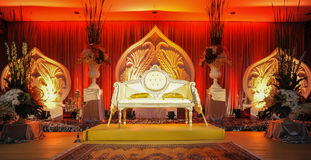 Altare di nozze, concetto di nozze del malay Fotografia Stock Libera da Diritti