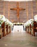 Altare di nozze nella chiesa Immagine Stock