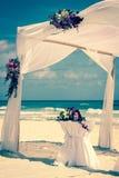 Altare di nozze sulla spiaggia Fotografia Stock Libera da Diritti