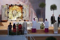 Altare 2016 di papa Francis di giorno della gioventù del mondo Fotografia Stock