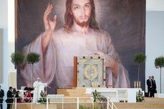 Altare 2016 di papa Francis di giorno della gioventù del mondo Fotografia Stock Libera da Diritti