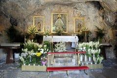 Altare di Pena della La di Ermita de la Virgen de a Mijas Fotografia Stock Libera da Diritti