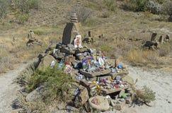 Altare di ripiego al dio Shiva in montagne della Crimea Fotografie Stock Libere da Diritti