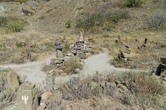 Altare di ripiego a Shiva in montagne della Crimea Fotografie Stock