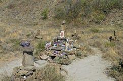 Altare di ripiego a Shiva in montagne della Crimea Fotografia Stock Libera da Diritti