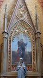 Altare di Roch del san in chiesa di St Peter in Velesevec, Croazia Fotografie Stock Libere da Diritti