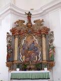 Altare di Saint Joseph nella chiesa del presupposto di vergine Maria in Pokupsko, Croazia Immagine Stock Libera da Diritti