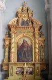 Altare di San Giorgio nella basilica del cuore sacro di Gesù a Zagabria Immagini Stock Libere da Diritti