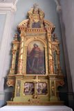 Altare di San Giorgio nella basilica del cuore sacro di Gesù a Zagabria Immagine Stock