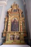 Altare di San Giorgio nella basilica del cuore sacro di Gesù a Zagabria Fotografie Stock