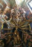 Altare di Santa Barbara nel theChurch della nostra signora della neve in Belec, Croazia Fotografie Stock