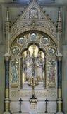 Altare di Santi Cirillo e Metodio nella cattedrale di Zagabria Immagine Stock Libera da Diritti