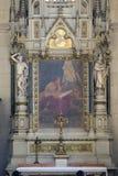 Altare di St Jerome nella cattedrale di Zagabria Immagini Stock