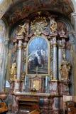 Altare di St John di Dio nella chiesa di Barmherzigenkirche a Graz Fotografia Stock