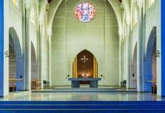 Altare di una cappella in un'abbazia Fotografia Stock Libera da Diritti