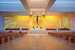 Altare di una chiesa moderna Fotografie Stock
