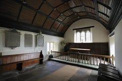 Altare di vecchia chiesa, Penallt Fotografia Stock