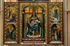 Altare di vergine Maria benedetto Immagini Stock