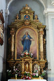 Altare di vergine Maria nella basilica del cuore sacro di Gesù a Zagabria Immagini Stock