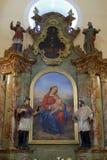 Altare di vergine Maria nella chiesa del san Francis Xavier in Vugrovec, Croazia Fotografia Stock