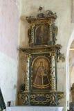 Altare di vergine Maria nella chiesa di St Michael in Vugrovec, Croazia Immagine Stock Libera da Diritti