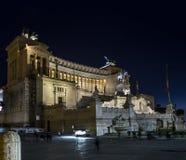 Altare di Vittoriano Roma di notte della patria Fotografia Stock Libera da Diritti