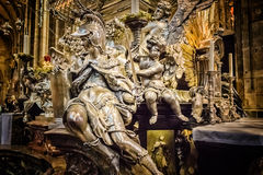 Altare di Vitus Cathedral del san Fotografie Stock