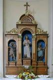 Altare di Vitus del san in chiesa di San Martino in Scitarjevo, Croazia Fotografie Stock