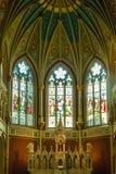 Altare di Windows incurvato tre Fotografia Stock Libera da Diritti
