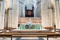 Altare di York Minster Fotografie Stock