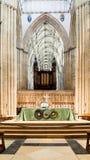 Altare A di York Minster Fotografia Stock
