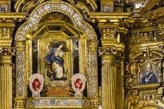 Altare dorato Fotografia Stock Libera da Diritti