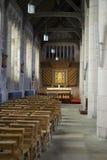 Altare dorato d'ardore in cappella Fotografie Stock Libere da Diritti