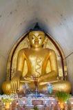 Altare dorato Maha Bodhi Temple Bagan della Birmania Buddha Immagine Stock Libera da Diritti