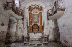 altare e balconi in chiesa Fotografia Stock Libera da Diritti