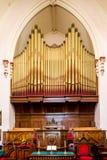 Altare e canne d'organo Fotografie Stock