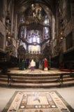 Altare e mosaico principali della cattedrale di Palma de MallorcaImmagini Stock Libere da Diritti