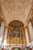 Altare e soffitto della S Monastero di bento Fotografia Stock Libera da Diritti