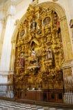 Altare elaborato nella cattedrale di Granada immagini stock libere da diritti