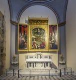 Altare famoso in Cathedrale Sainte Sauveur a Aix-en-Provence Immagini Stock Libere da Diritti