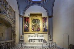 Altare famoso in Cathedrale Sainte Sauveur a Aix-en-Provence Fotografia Stock