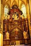 Altare famoso nella chiesa di parrocchia di Ptujska Gora Fotografia Stock Libera da Diritti
