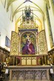 Altare famoso vergine Maria nel roseto Fotografie Stock Libere da Diritti