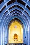 Altare giallo e arché blu Fotografia Stock
