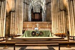 Altare HDR di York Minster Immagine Stock