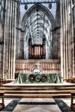 Altare HDR A di York Minster Fotografia Stock